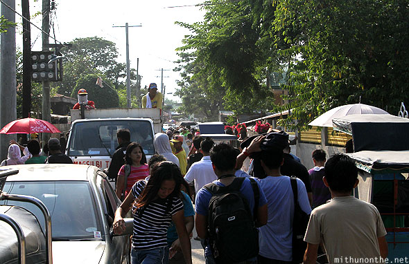 San Pedro Cutud road Good Friday traffic Pampanga Philippines