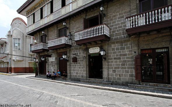 The papier tole shop classic Spanish building Intramuros