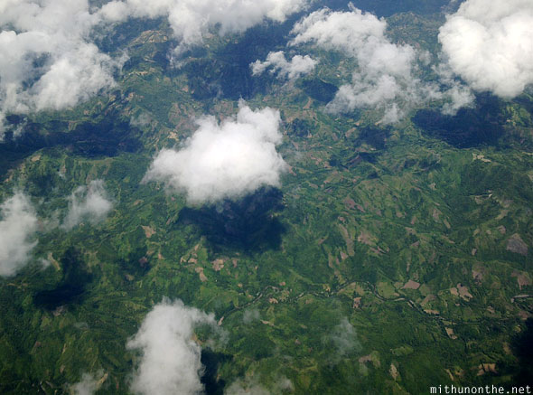 Aerial photography Cebu green plateau Philippines