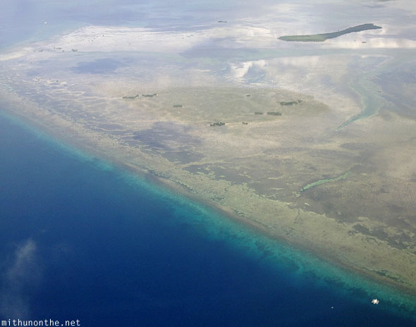 Aerial photography Cebu shallow waters
