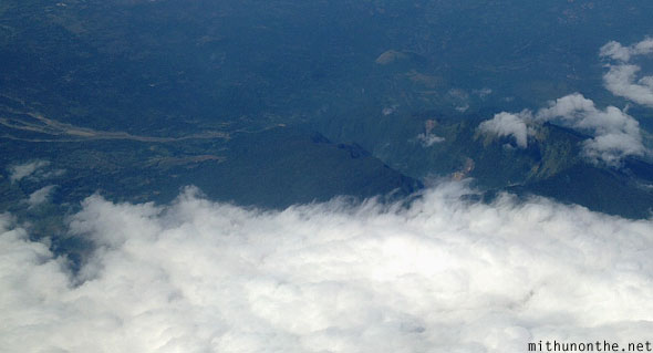 Aerial photography cloud mountain Philippines