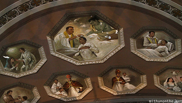 Basilica del Santo Nino ceiling paintings Philippines