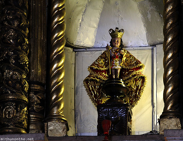 Basilica del Santo Nino church figure Cebu Philippines