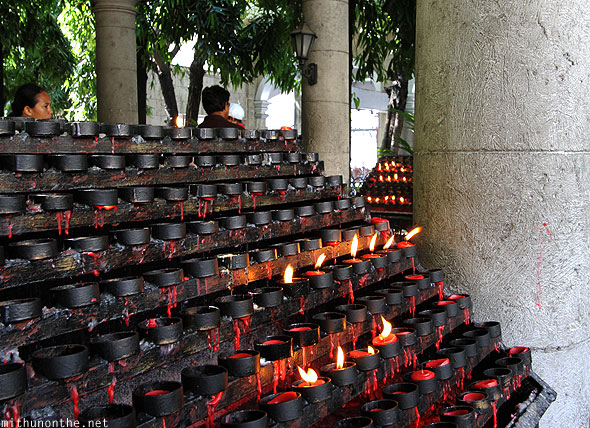 Basilica St. Nino candle holders Cebu Philippines