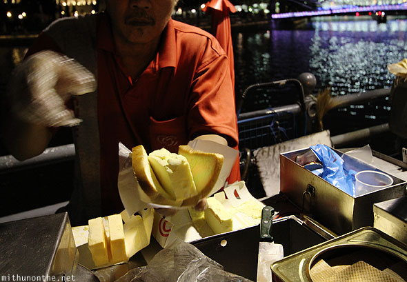 Boat Quay bread ice-cream Singapore