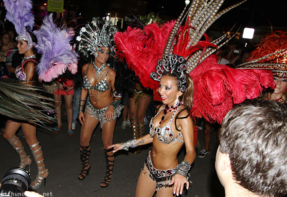 Brazilian samba dancers Singapore F1 performance