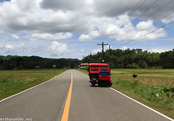 Carmen road red trike Bohol Philippines