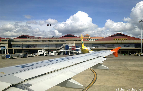 Cebu airport Airphil Express flight landing Philippines
