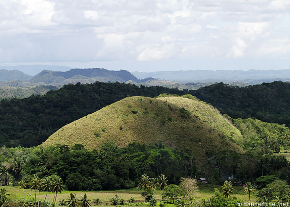 Chocolate Hills big Bohol Philippines