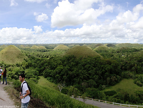 Chocolate hills Bohol tourists panorama