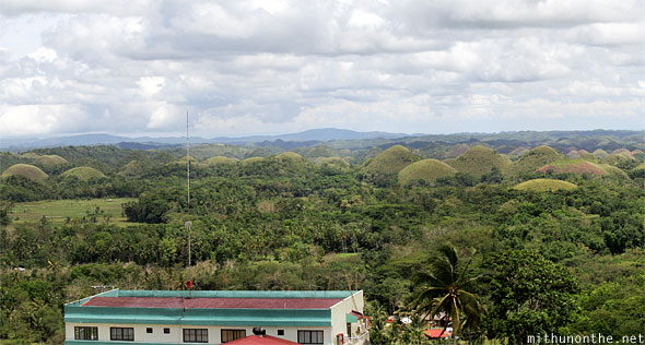 Chocolate Hills Bohol tower Philippines panorama