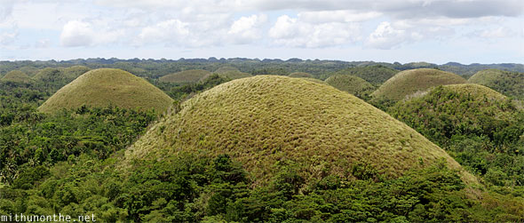 Chocolate hills Bohol zoomed in panorama