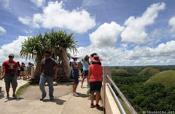 Chocolate hills observation hill Bohol Philippines