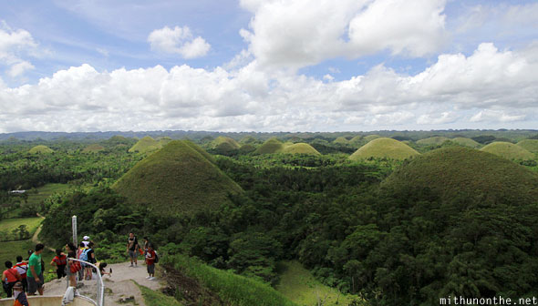 Chocolate hills view from observation point Bohol