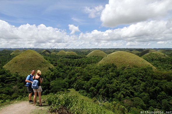 Chocolate hills view from top Bohol Philippines