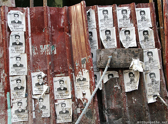 Election posters criminal mugshots Chinatown Manila