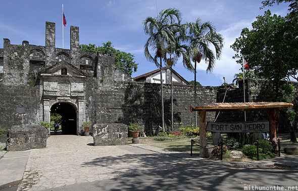 San Pedro Philippines  city pictures gallery : There is an entrance fee of ₱30 to Fort San Pedro Fort San Pedro ...