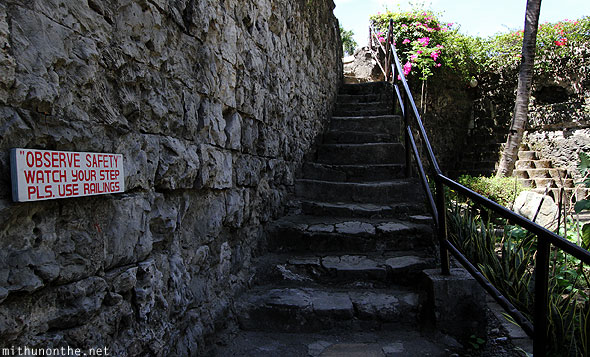 Fort San Pedro steps railing Cebu