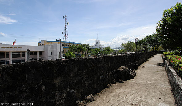 Fort San Pedro wall facing Cebu port office