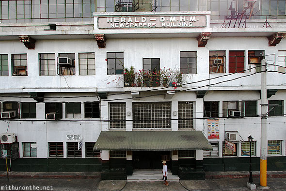 Herald newspapers building Intramuros Manila