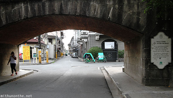 Intramuros entrance under the bridge Manila