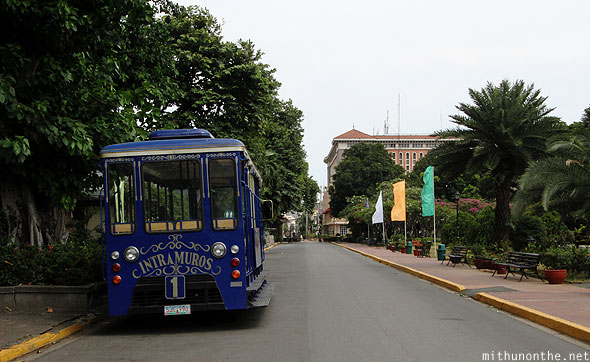 Intramuros tram ride Manila Philippines