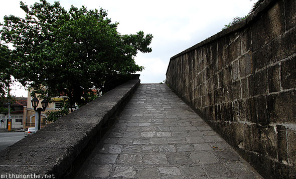 Intramuros wall ramp Manila