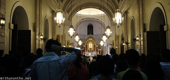 Malate Church sunday evening mass Manila Philippines
