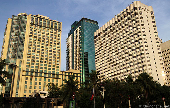Manila Bay high rise buildings Philippines