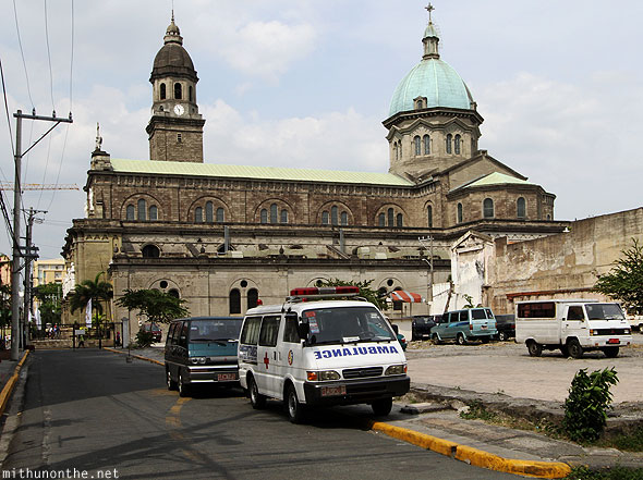 Manila Cathedral ambulance Intramuros Philippines