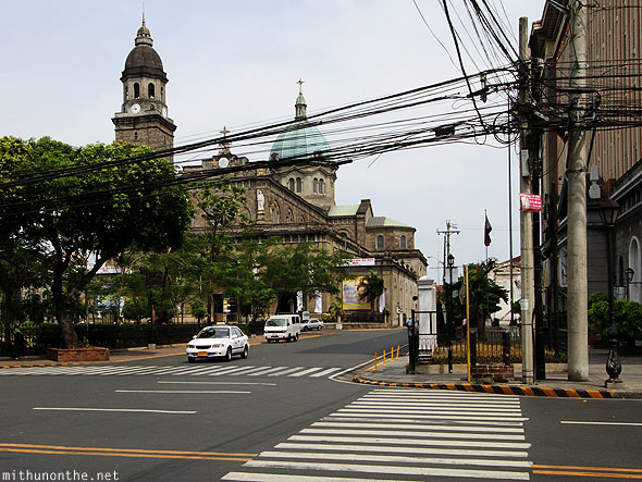 Manila Cathedral zebra crossing Intramuros Philippines