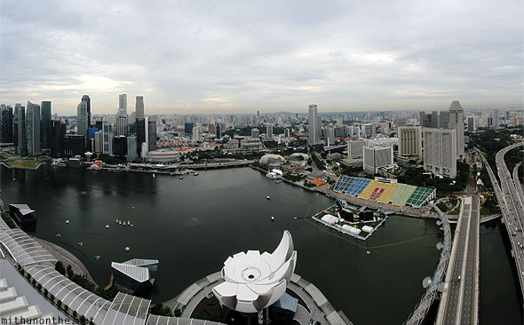 Marina Bay skybridge view panorama