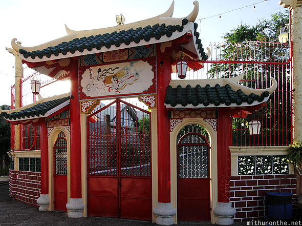Philippine Taoist temple door design Cebu