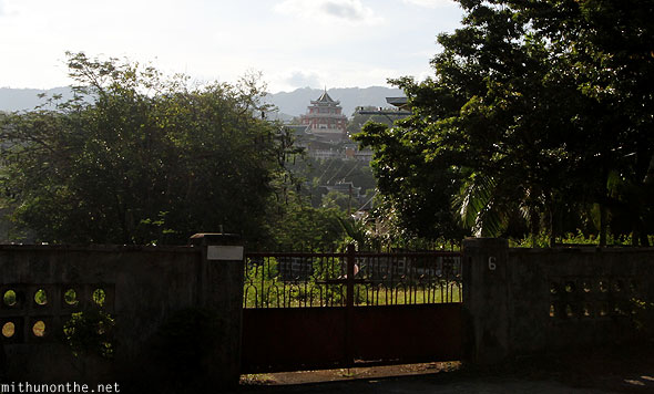Philippines Taoist temple from afar Cebu