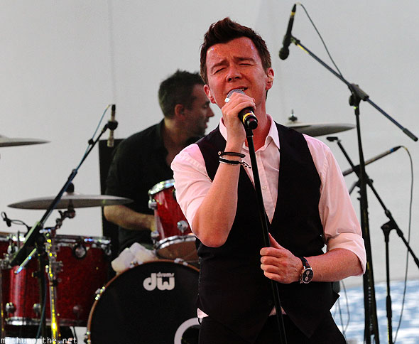 Rick Astley singing Singapore concert Marina Stage