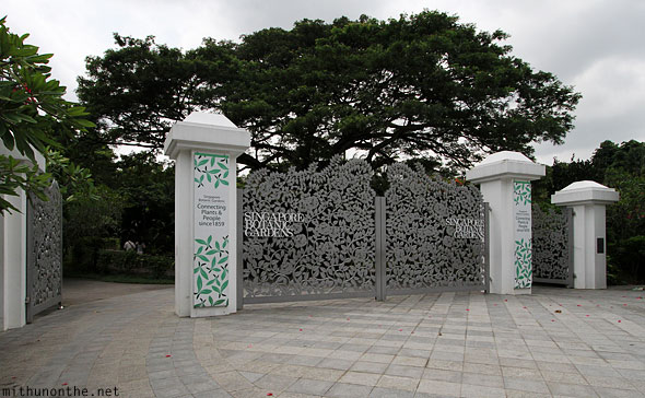 Singapore botanic gardens Orchard road gate