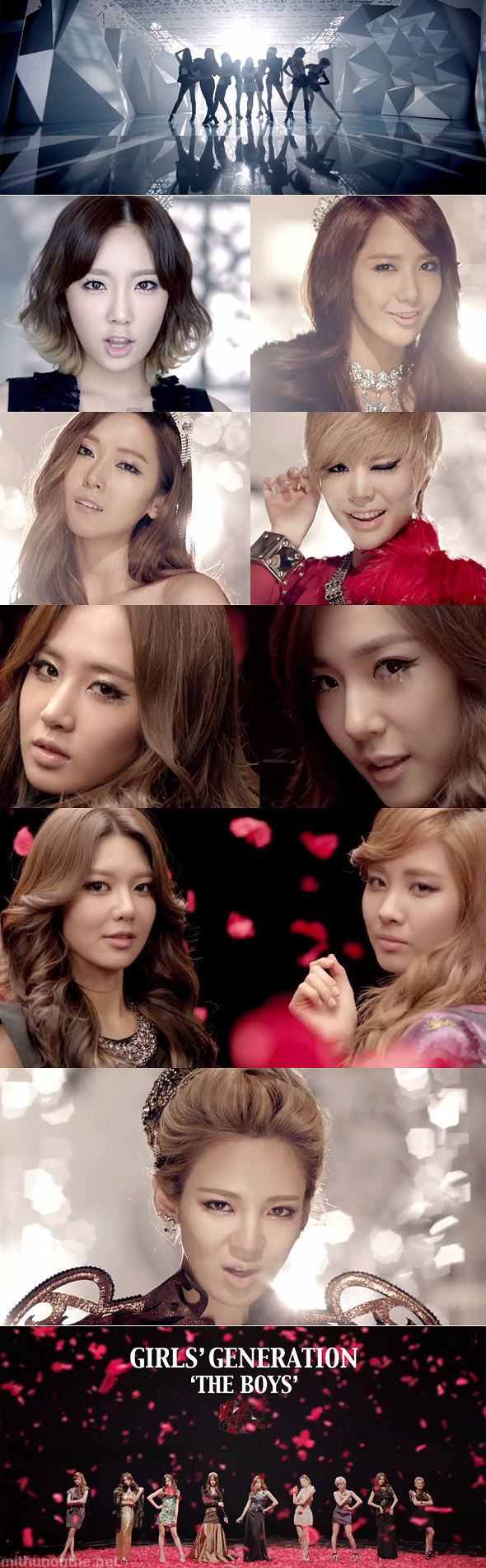 SNSD Girls Generation The Boys MV screencaps members