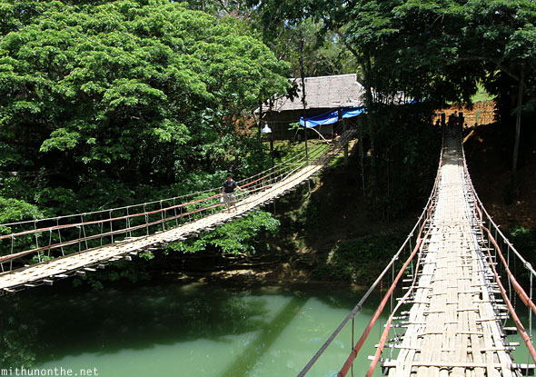 Two hanging bridges Bohol Philippines
