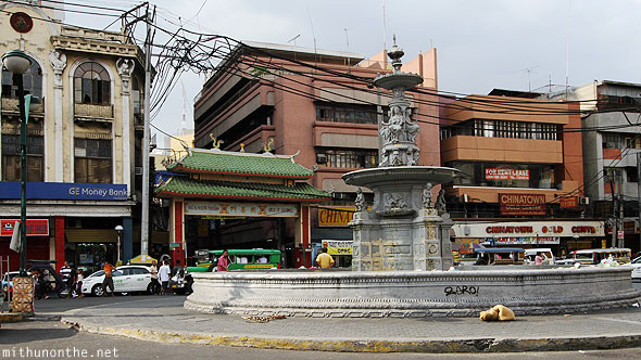 Way to Chinatown fountain Manila