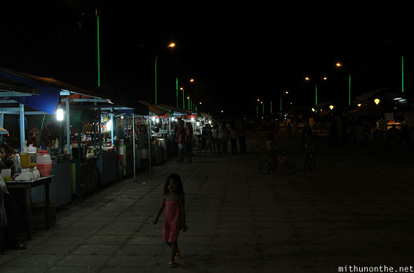 Babybay at night food stalls Puerto Princesa Palawan Philippines