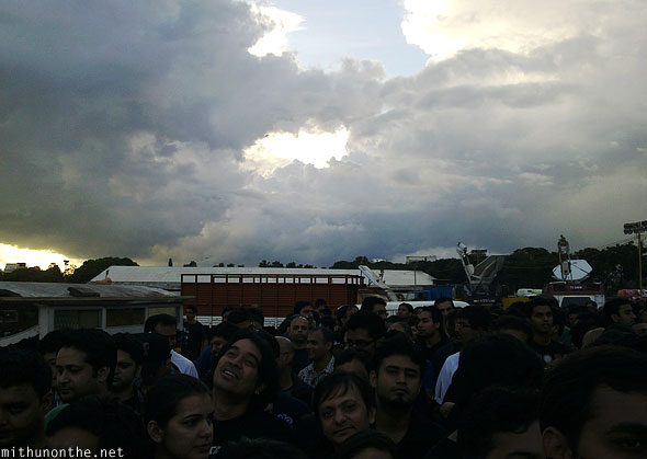 Bangalore Metallica concert day clouds India