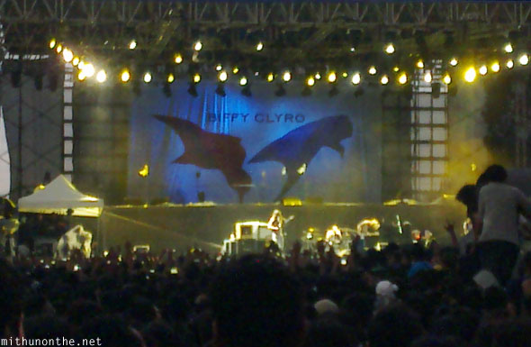 Biffy Clyro opening act Bangalore rock in India