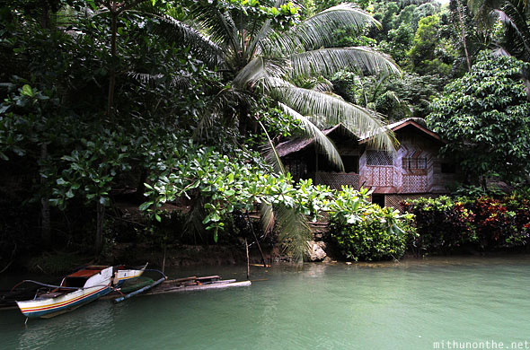Bohol village home goat Loboc river Philippines
