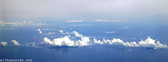 Cebu to Palawan islands aerial view