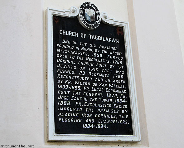 Church of Tagbilaran history Bohol Philippines