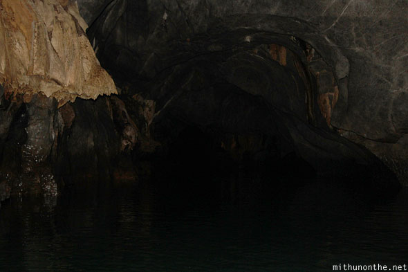 Deep inside underground river Sabang Palawan Philippines