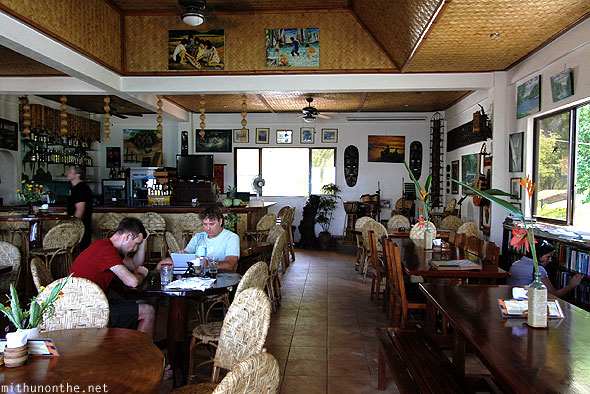 El Nido Art Cafe restaurant interiors Palawan Philippines