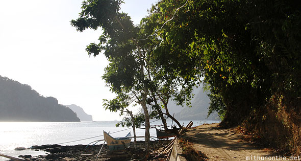 El Nido beach afternoon path Palawan