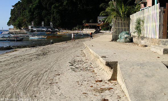 El Nido beach bike platform Philippines