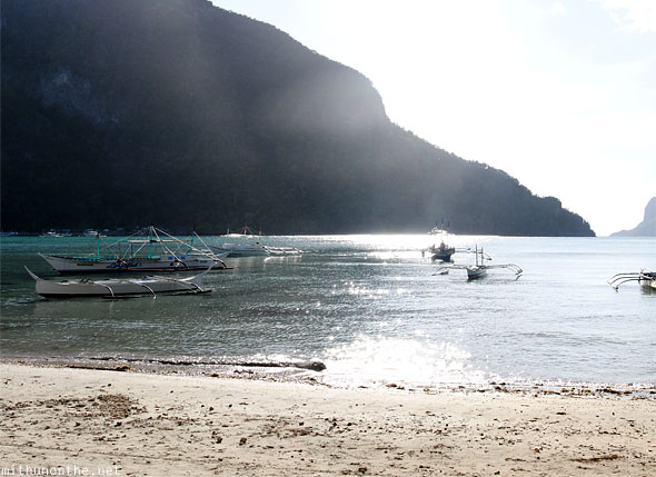 El Nido beach Palawan afternoon sunlight